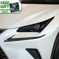 car headlight protective film front light transparent black tpu sticker for lexus nx nx300h nx200t facelift 2019 on accessoies