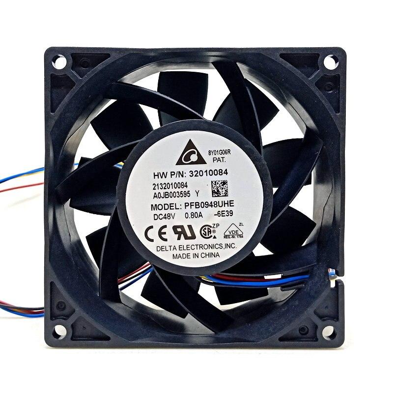 ل دلتا PFB0948UHE 92x92x38 مللي متر DC48v 0.80a 4 خطوط ل HW جهاز مروحة التبريد
