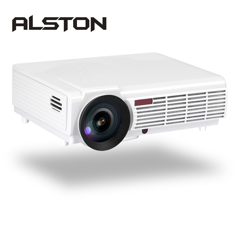 ALSTON LED 96/96W proyector LED 4500 lúmenes doble altavoces HIFI opcional Android 6,0 WiFi Bluetooth soporte 1080P Beamer