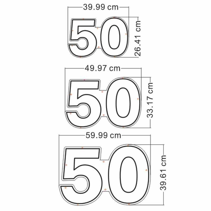 OHANEONK Custom Fed 50 Fifty Happy Birthday Flexible Neon Light Sign Decoration Home Bar Wall Bedroom Party Decorative Cool enlarge