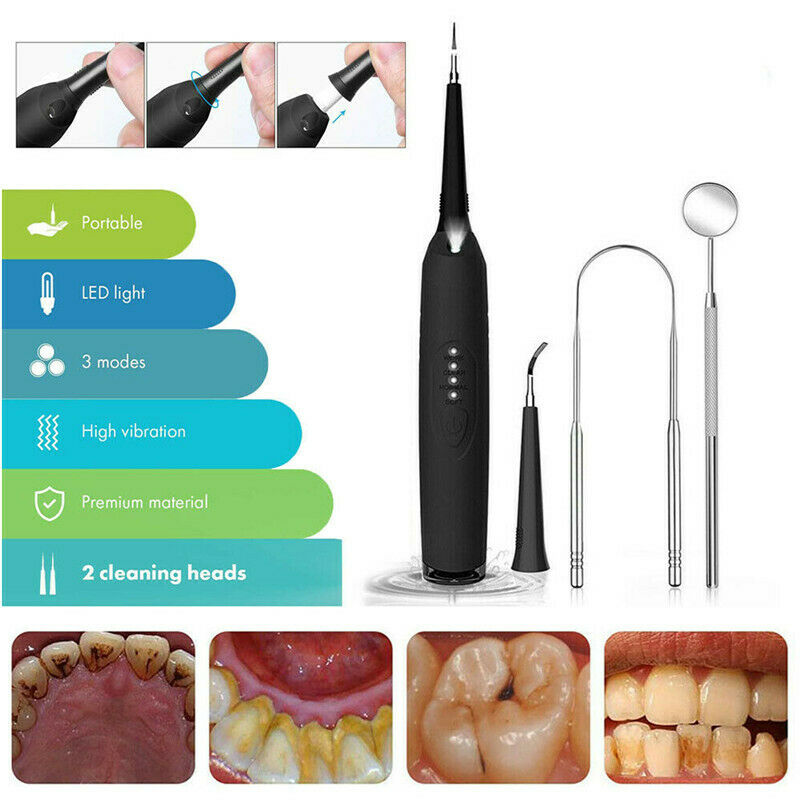 Electric Ultrasonic Sonic Dental Scaler LED Display Tooth Calculus Remover Cleaner Tooth Stains Tartar Tool Whiten Teeth Tartar enlarge