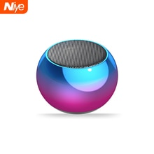 Niye Mini haut-parleurs Portable Bluetooth haut-parleur sans fil Subwoofer basse haut-parleur stéréo Surround HiFi basse main libre maison extérieure