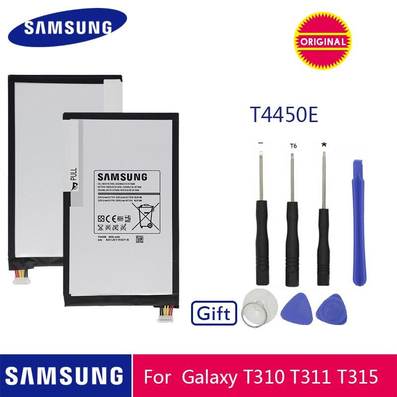 Samsung original tablet bateria t4450e 4450 mah para samsung galaxy tab 3 8.0 t310 t311 t315 baterias de substituição + ferramentas gratuitas