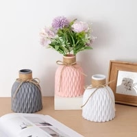 nordic flower vase decoration home plastic vase white imitation ceramic flower pot flower basket christmas new year decor