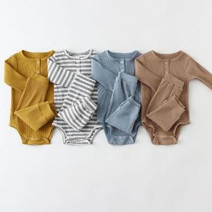 Infant Baby Boy Girl Clothes Set Long Sleeve Baby Bodysuit +Pant Newborn Boy Outfits Summer Autumn Newborn Baby Girl Clothing
