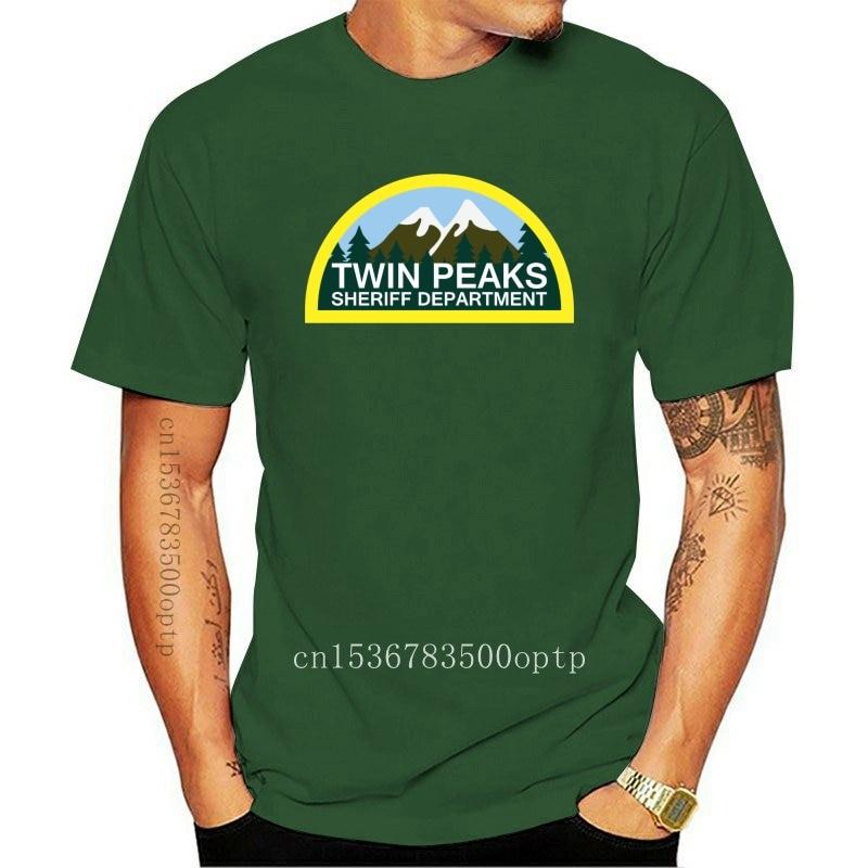 New T Shirts Fashion 2021 Twin Peaks Sheriff Department Logo Shirt David TV Series Men T Shirt cool t shirts