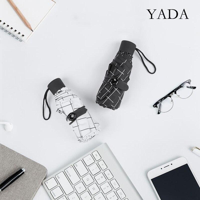 Dobrável para as Mulheres Yada Business Treliça Simples 8 Ossos Mini Bolso Guarda-chuvas Guarda-sol 5-guarda-chuva Guarda-chuva uv Ys200155 2021