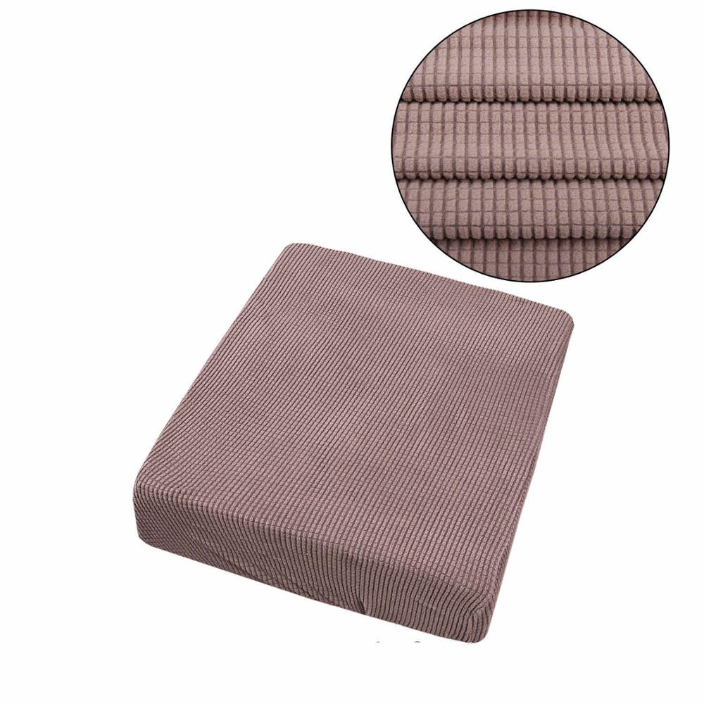 Thick Polar Fleece Sofa Seats Cover Elastic Fixed Slipcover For Couch Sofa Cushion Cover Washable Removable Chairs Cover 4 Sizes