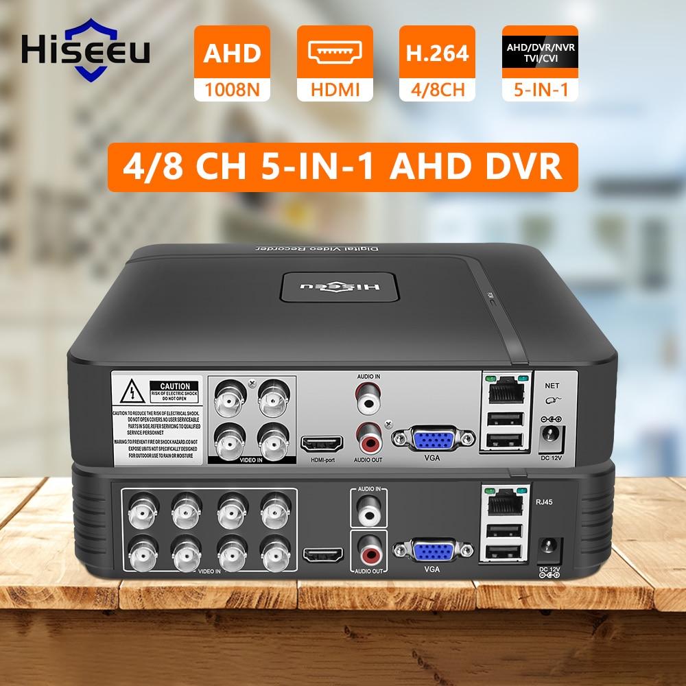 AHD 5MP 4CH 8CH CCTV DVR Mini DVR 5IN1 For CCTV Kit VGA HDMI Security System Mini NVR For 1080P IP Camera DVR PTZ H.264