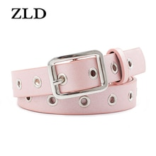 ZLD Faux Leather Square Buckle Belts Women Casual Solid Wild Adjustable Belts Decoration Ladies Fash