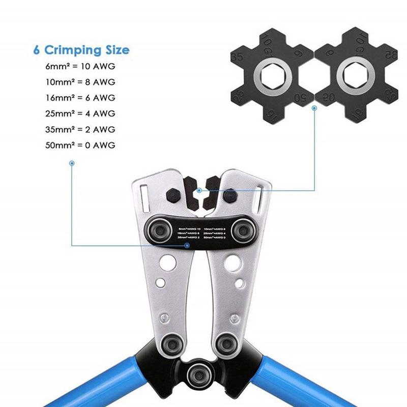 Cable de prensado Cable de engarzado tubo eléctrico prensado herramienta de mano batería Lug ALI88
