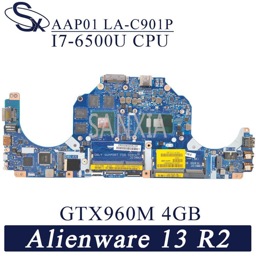 Kefu LA-C901P placa-mãe do portátil para dell alienware 13 r2 original mainboard I7-6500U GTX960M-4GB