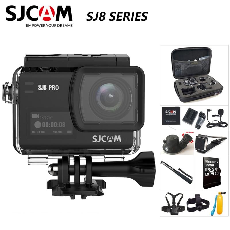Оригинальная Экшн-камера SJCAM SJ8 серии SJ8 Air & SJ8 Plus и SJ8 Pro 1290P 4K wifi Пульт дистанционного управления Водонепроницаемая Спортивная DV