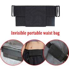 Portable Invisible Wallet Waist Bag Outdoor Sports Running Cycling Waist Belt Bag Pack Card Wallet M