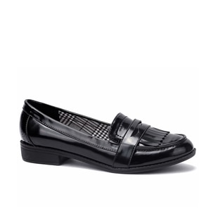 Maxmuxun Women Shoes Bowtie Loafers Patent Leather Female Low Heels Slip On Footwear Pointed Toe Thick Heel