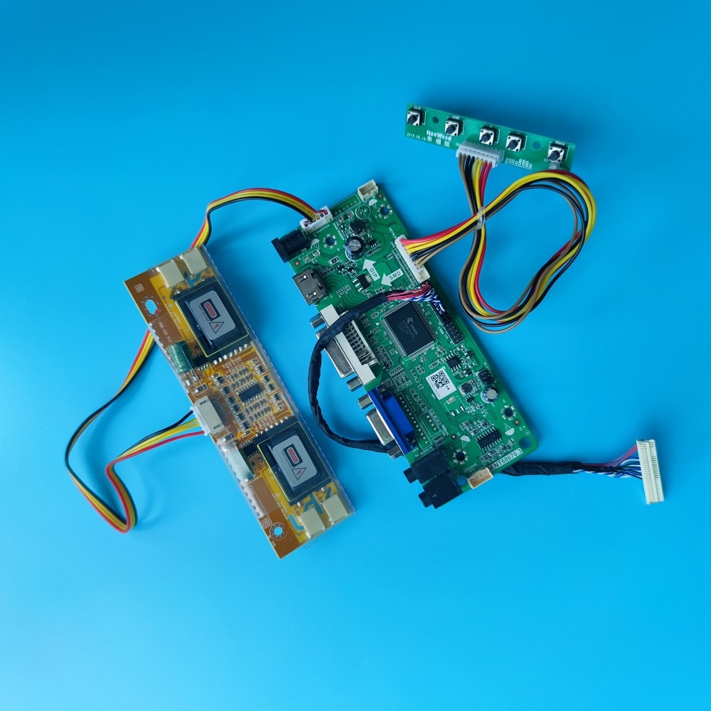 عدة ل LM190E08 DVI VGA LVDS 4 مصابيح DIY بها بنفسك HDMI-متوافق M.NT68676 30pin 1280X1024 تحكم مجلس سائق 19