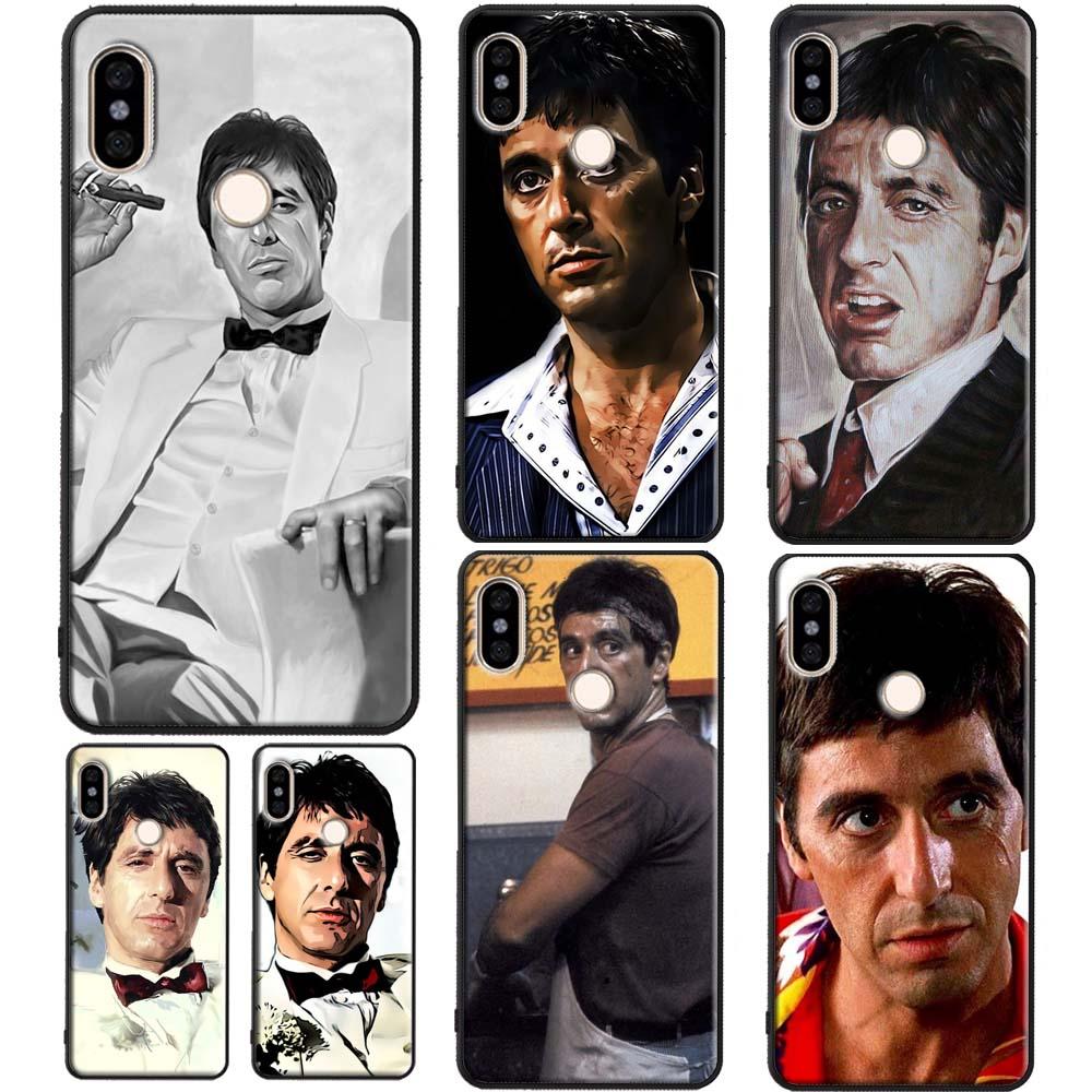 Al Pacino Scarface caso para Xiaomi Redmi Nota 8T 8 9 Pro 9 S 7 7A 8A K30 Mi 9T 10 Pro 9 SE A3 Max3 Mix3