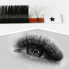 Abonnie Auto Easy Fanning Volume Fans Mixed Trays Easy Blooming Eyelash Extention Premium Matte Blac