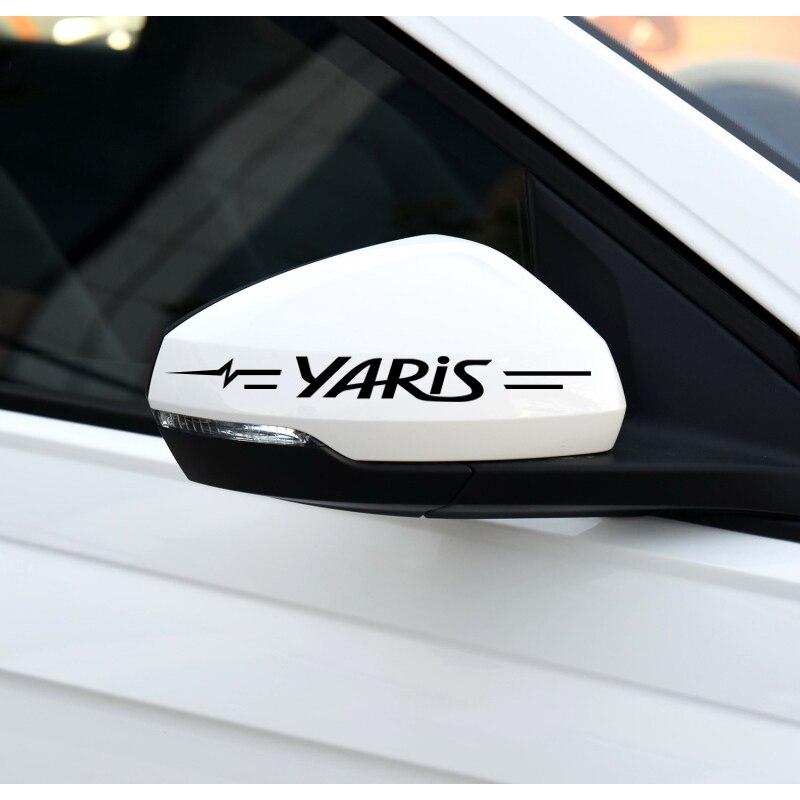 Наклейки для украшения автомобиля дверные ручки зеркала заднего вида наклейки для Toyota yaris 2007 2008 2017 автомобильный Стайлинг