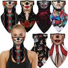 Indian Female Witch Woman Halloween Rose Butterfly Vampire Horror Cosplay Face Mask Neck Scarf Masks Bandana Headband Balaclava