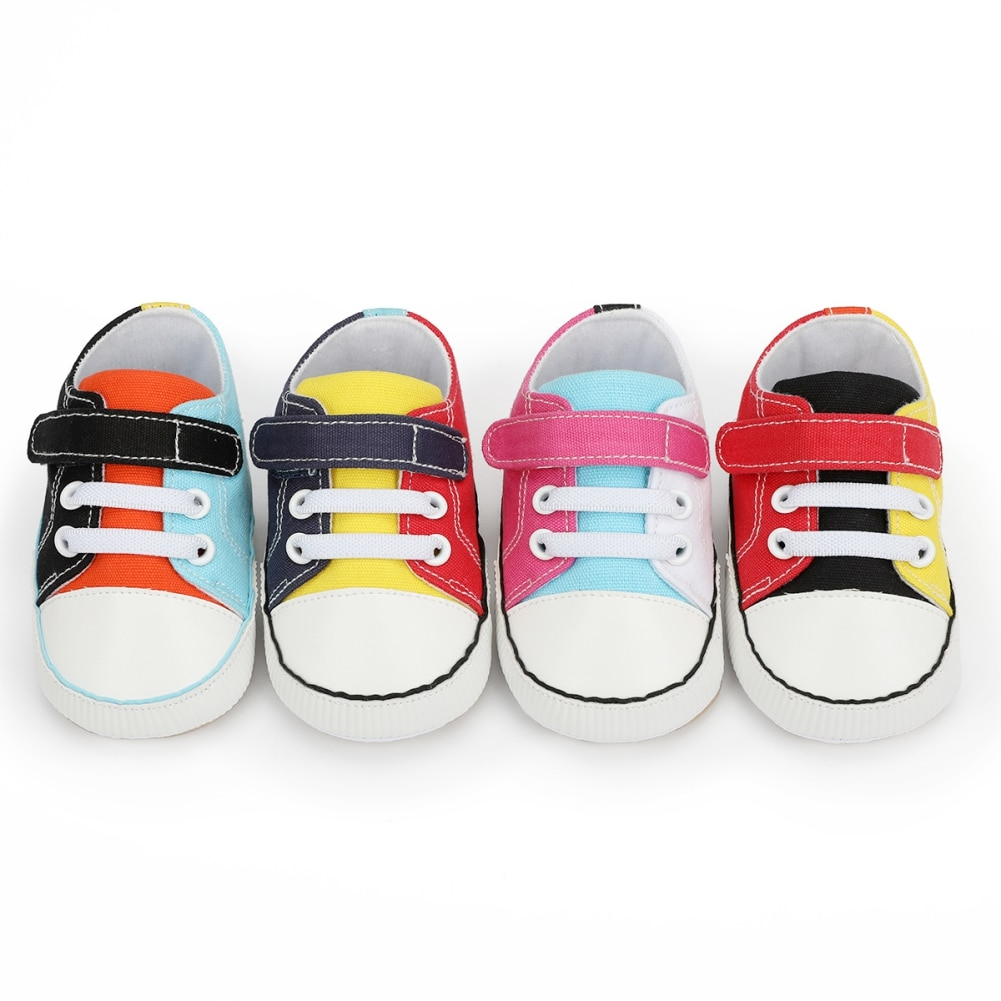 Newborn Baby Boys Girls Canvas Classic Sports Sneakers Shoes Infant Toddler Soft Sole Anti-slip Shoes