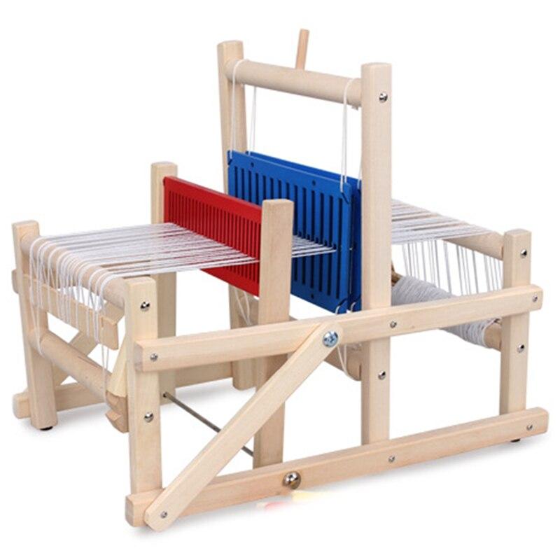 Telar de madera tradicional para niños, juguete artesanal, regalo educativo, máquina de tejer marco de madera