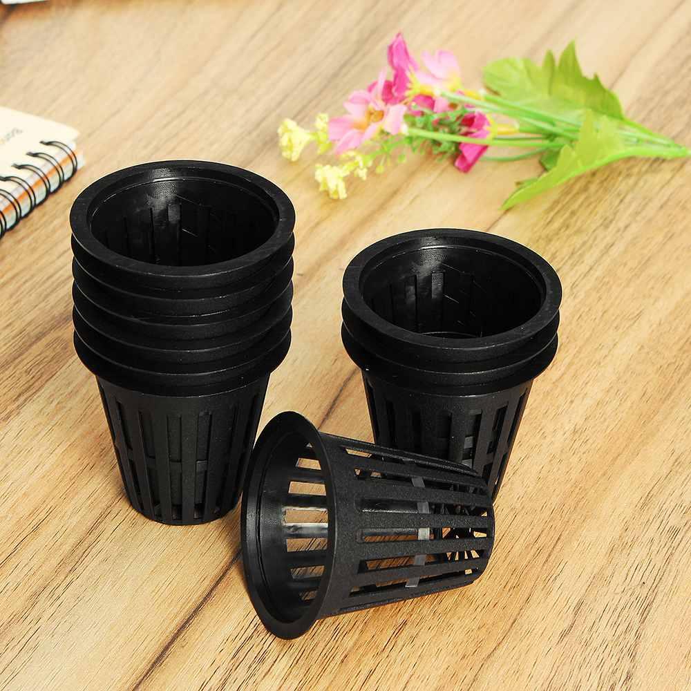 10 Uds cesta de injerto de malla bote vaso con malla de alta resistencia contenedor de flores hidropónicas planta de cultivo de jardín clon maceta cesta de plantación