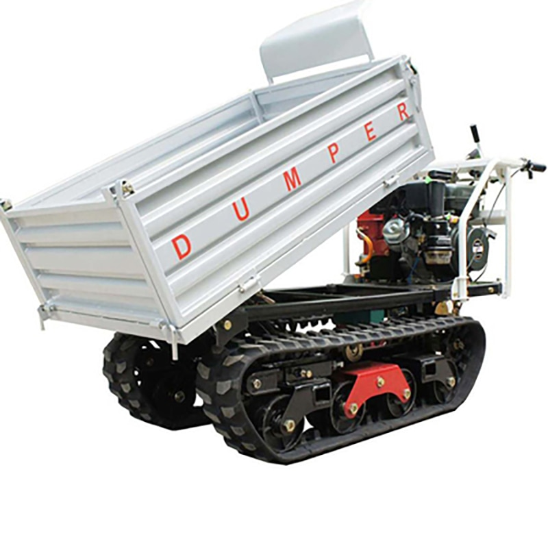 10hp gasoline Crawler transport truck self-unload mountain climb construction site trees orchard loader agriculture vehicle