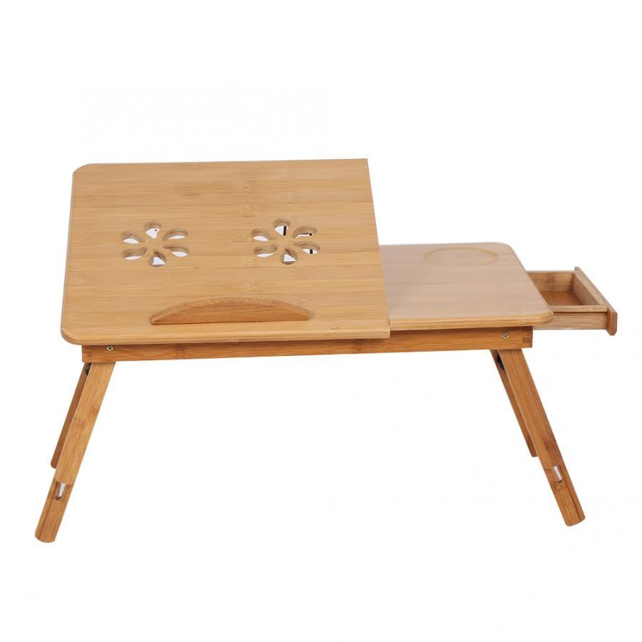 Étagère réglable en bambou pour lit dortoir bureau deux fleurs support de plateau de lecture pour livre