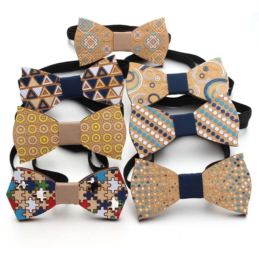 Corbatín Caballero de madera de moda corbatín Caballero corbatín de Color hecho a mano lazo de fiesta corbata de lazo tipo mariposa corbata de madera única para hombre