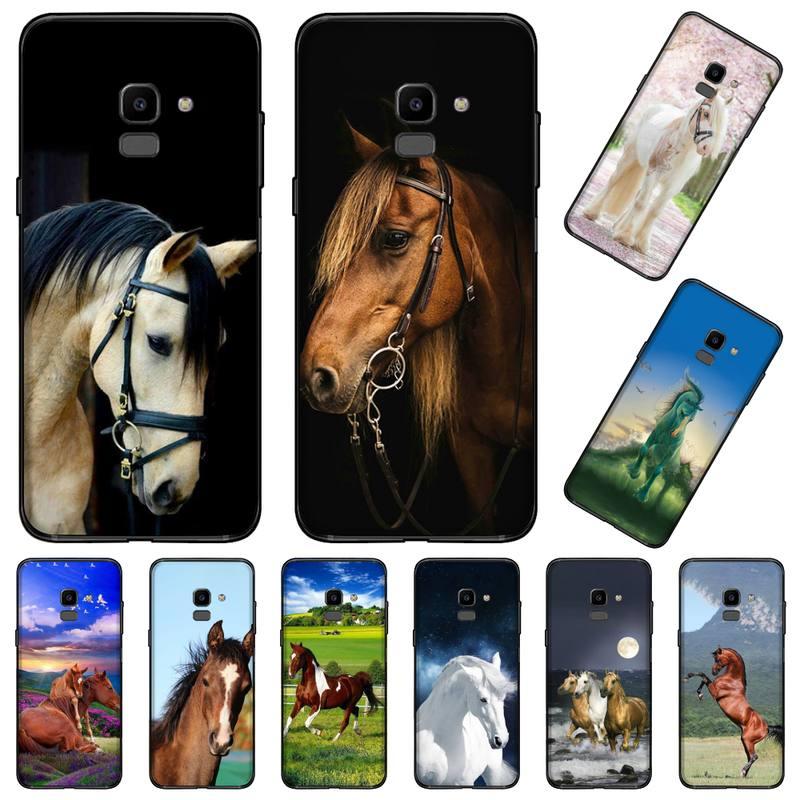 Carcasa de teléfono con diseño de caballo atractivo para Samsung Galaxy J2 J4 J5 J6 J7 J8 2016 2017 2018 Prime Pro plus Neo duo