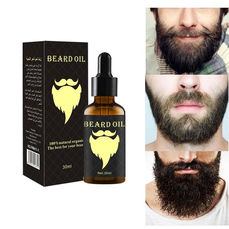 100% Natural Accelerate Facial Hair Grow Beard Essential Oil Hair and Beard Growth Oil Men Beard Grooming Products 30ML недорого