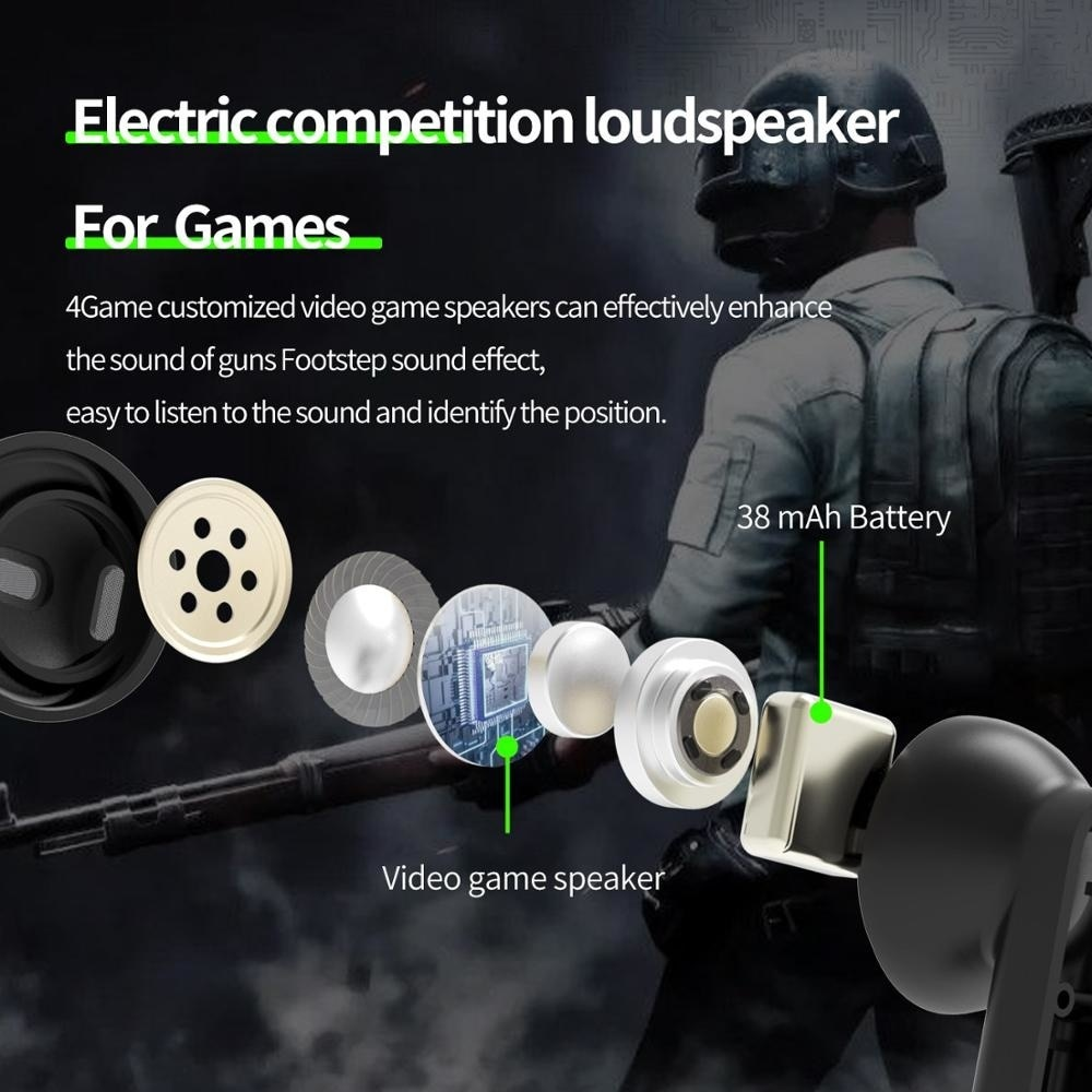 4Game True Wireless Bluetooth 5.0 Headset With Loading Compartment Tws Binaural Sport Graffiti Headset enlarge