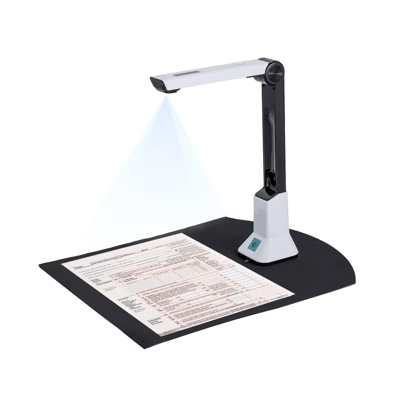 Escáner portátil de 8 megapíxeles para libros, tamaño de captura de alta...