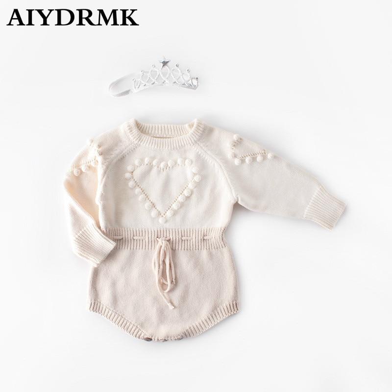 Ropa de bebé de punto recién nacido bebé niña mono con corona