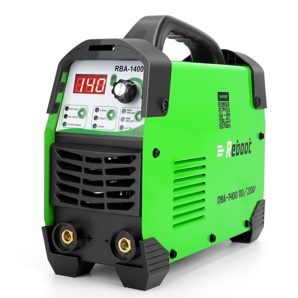 Neustart ARC SCHWEIßER ARC140 AC 110V/220V MMA Lift-tig Inverter Stick Schweiß Maschine Mini Tragbare elektrode Stick Schweißer