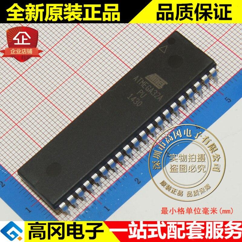 100% Novo & original ATMEGA32A-PU DIP40 16MHz 32KB Flash 2KB SRAM
