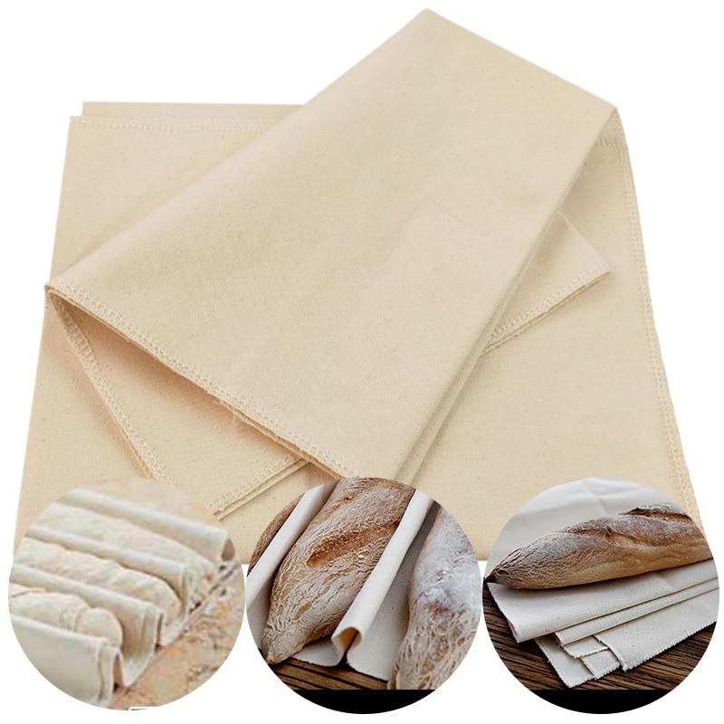 Linen Fermented Cloth Dough Bakers Pans Proving Bread Baguette Flax Cloth Baking Mat Baking Pastry Kitchen Tools