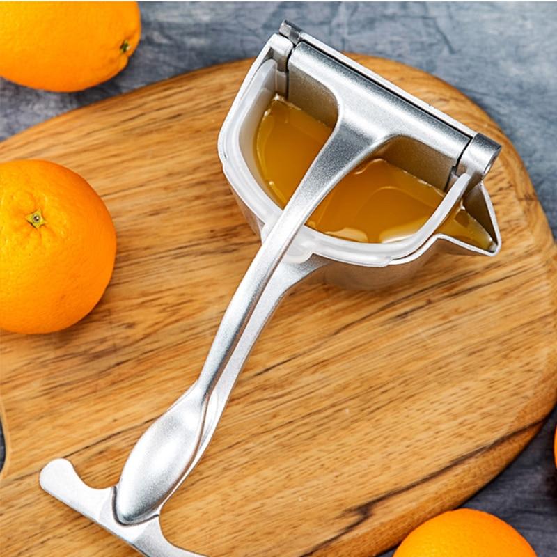Exprimidor Manual de aleación de aluminio, exprimidor Manual de frutas, exprimidor de zumo de manzana y limón, accesorios de cocina, triangulación de envíos