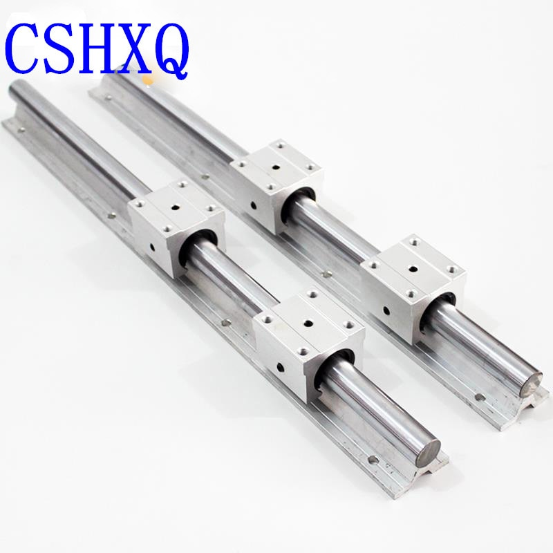 CNC 2 قطعة SBR دليل 16 مللي متر خطي السكك الحديدية طول 1000 مللي متر دعم جولة دليل السكك الحديدية + 4 قطعة SBR16UU الشريحة بلوك ل CNC أجزاء