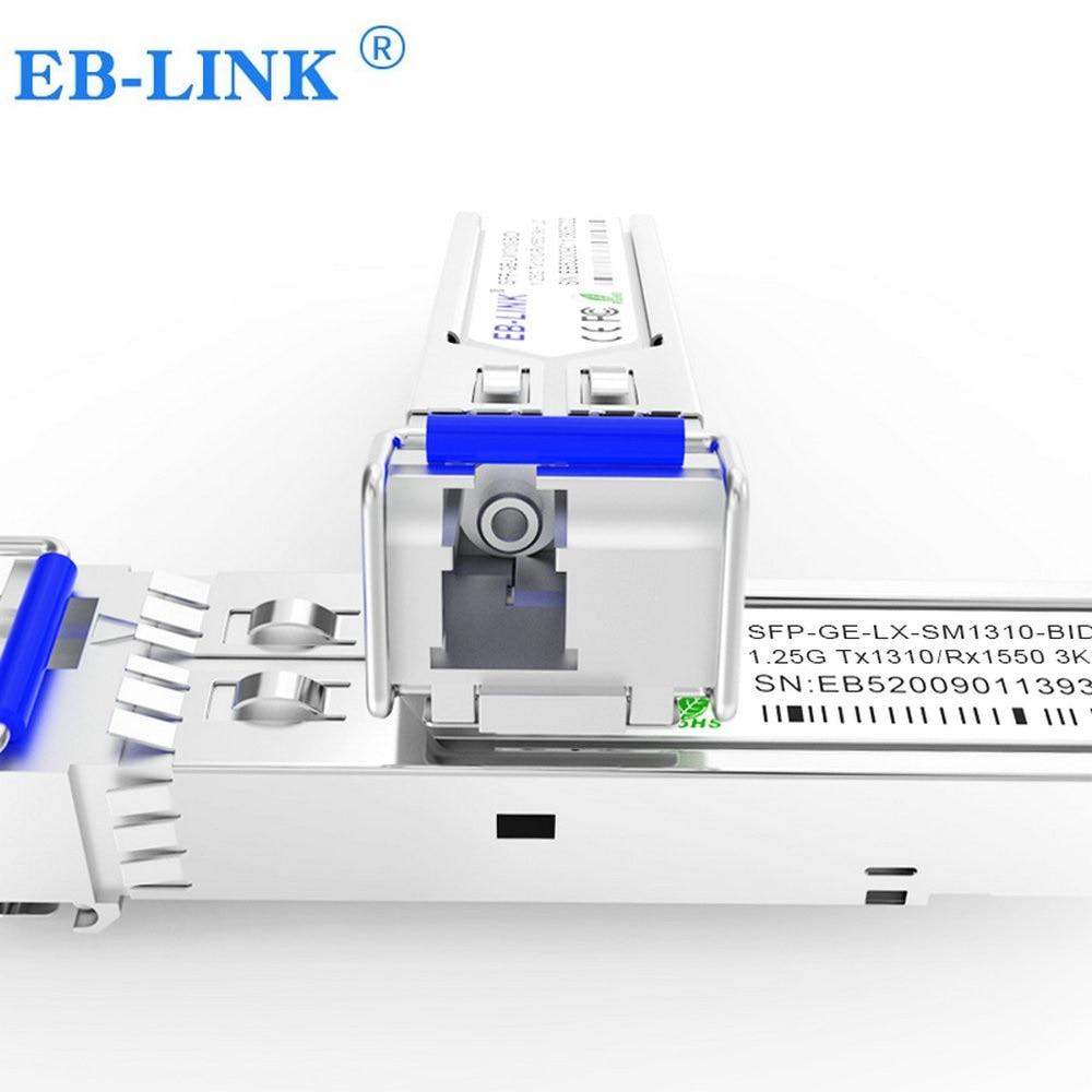 1 par GLC-BX-D, GLC-BX-U 1310/1550 1.25g 3km bidi sfp transceptor módulo