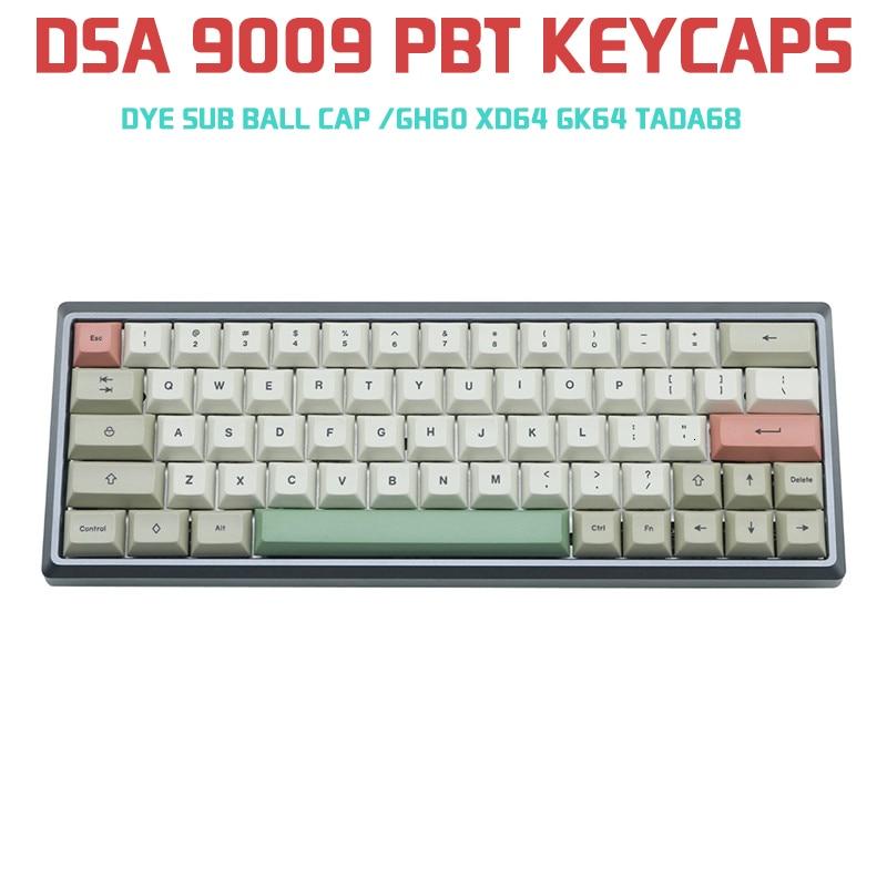 9009 مفاتيح للوحة المفاتيح الميكانيكية ، 125 ، DSA ، Pbt ، رمادي ، أبيض ، للوحة مفاتيح Cherry Mx ، GH60 ، XD64 ، GK64 ، Tada68 ، Keycool 84 ، Tofu96 ، 104