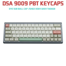 9009 DSA 125 touches Pbt gris blanc colorant sous Keycaps pour Cherry Mx clavier mécanique GH60 XD64 GK64 Tada68 Keycool 84 Tofu96 104