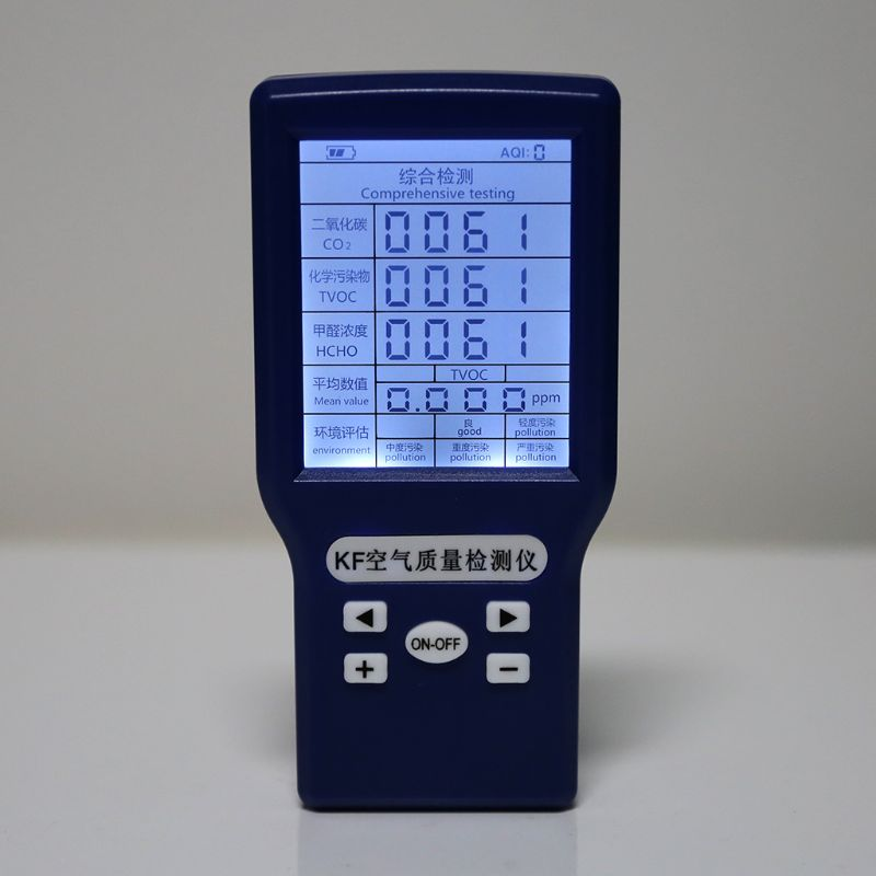 CO2 ppm метр TVOC HCHO AQI детектор углекислого газа анализатор переносной тестер качества воздуха