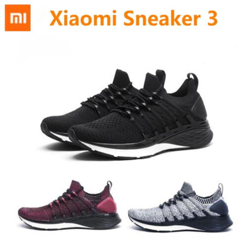 Neue Xiaomi Mijia Sneaker 3 Herren Laufschuhe 3 Uni-moulding 2,0 Fishbone Lock System Elastische Strick Vamp Schock-absorbieren Sohle