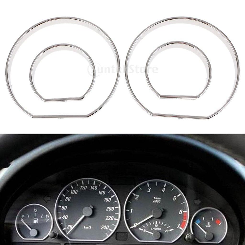 Cromado velocímetro calibre Dial anillos bisel embellecedor para BMW E46 M3 2000-2006
