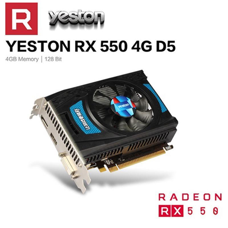 Yeston RX 550 RX550 4G D5 Graphic Card Radeon Chill PC computer Video Card 4GB GDDR5 128Bit 6000MHz