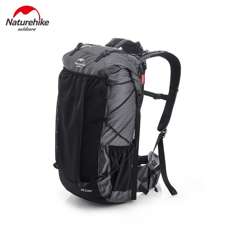 Mochila de senderismo Naturehike de 60L, bolsa de deportes ultraligera impermeable, paquetes de gran capacidad, marco de aluminio para acampada y escalada al aire libre