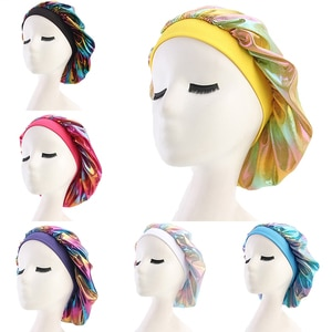Shower Cap Soft Satin Sleeping Cap Salon Bonnet Hair Headwear Sleep Bonnet Hair Styling Hat Night Cap