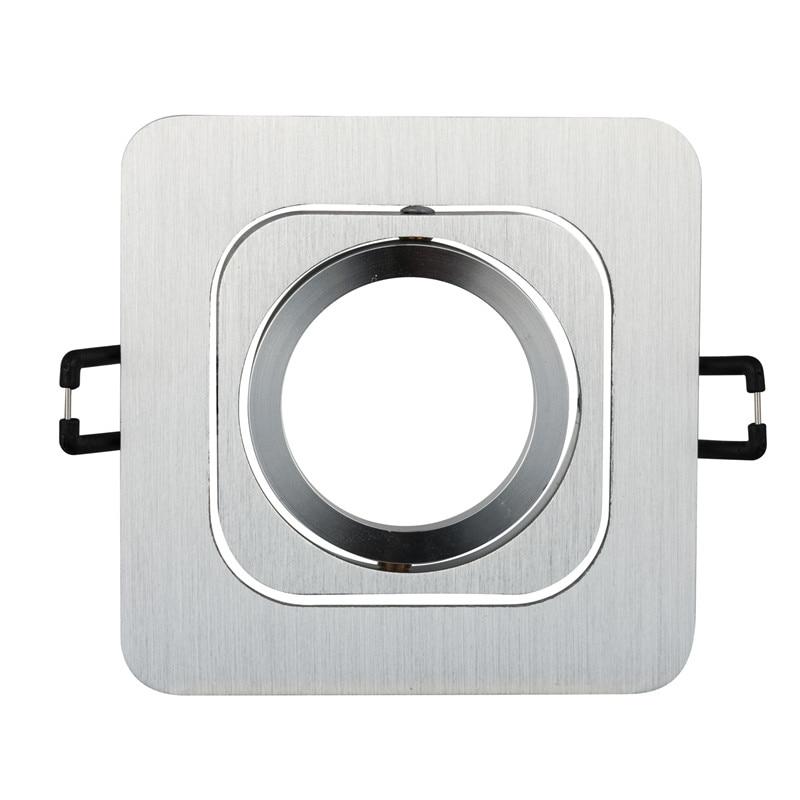 2pcs Square LED Spot light Frame Recessed Led Ceiling Light GU10 MR16 Fixtures Lamp Holder Spotlight Trim Rings